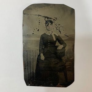 Other - Antique 1800s Victorian Woman Tintype Photograph